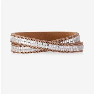 Express rhinestone double wrap bracelet